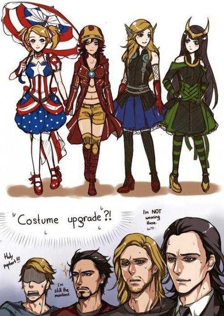 avengers as anime girls shinyanimeprincess